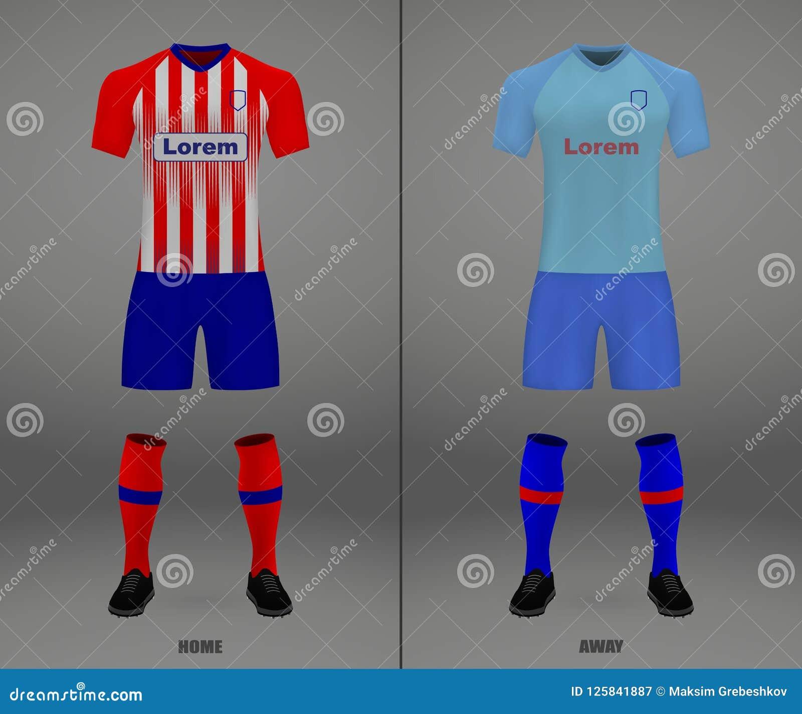 the latest a0245 491de Football Kit 2018-19, Shirt Template For Soccer Jersey ...