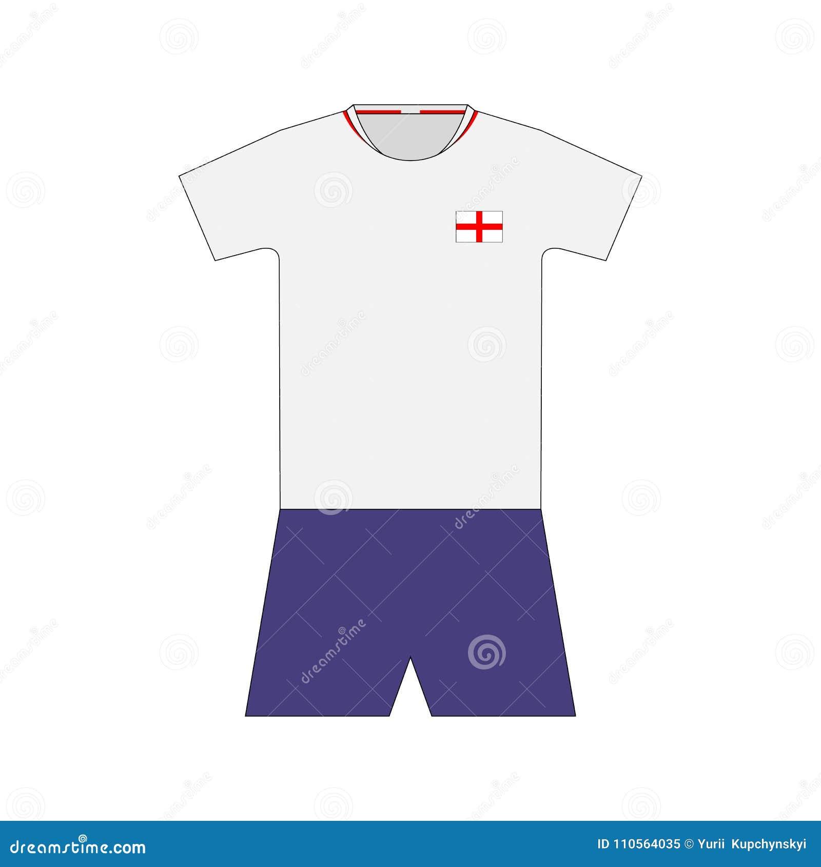 Football kit  England 2018 stock illustration  Illustration
