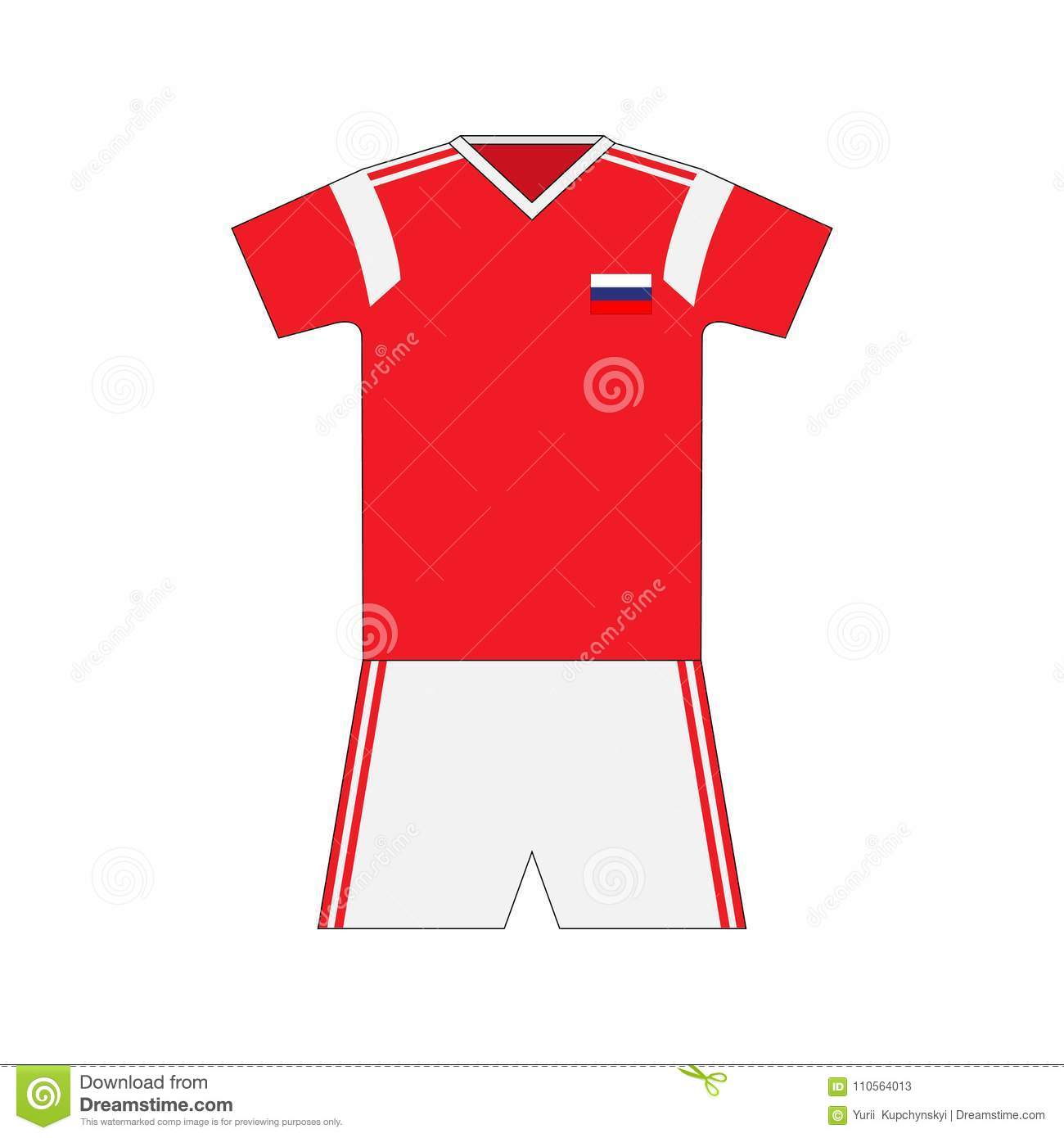 Football kit. Russia 2018. national team equipment. t-shirt. More similar stock  illustrations 6a9f7fc3a