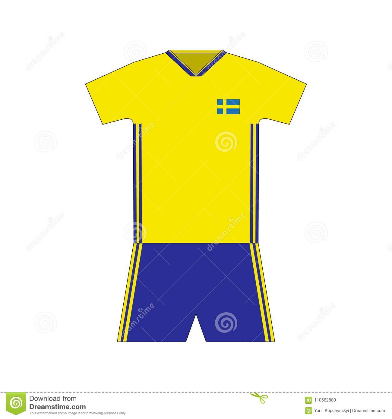 f1846ca68 Football kit. sweden 2018. stock vector. Illustration of country ...