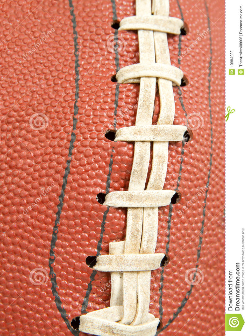 Football Laces Stock Photo Image Of Competition Frame
