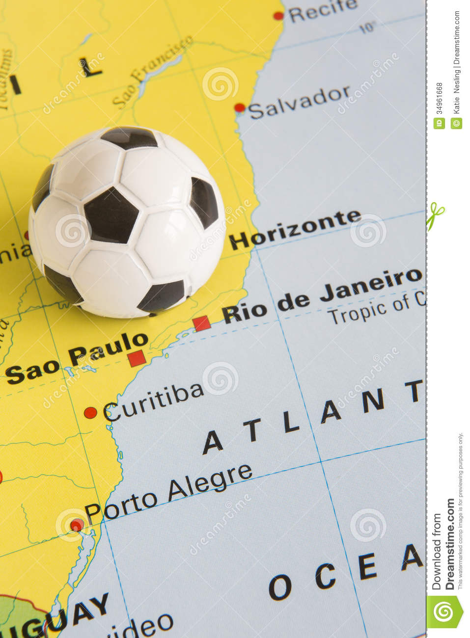 Football on map of brazil to show 2014 rio fifa world cup tourna football on map of brazil to show 2014 rio fifa world cup tourna gumiabroncs Gallery