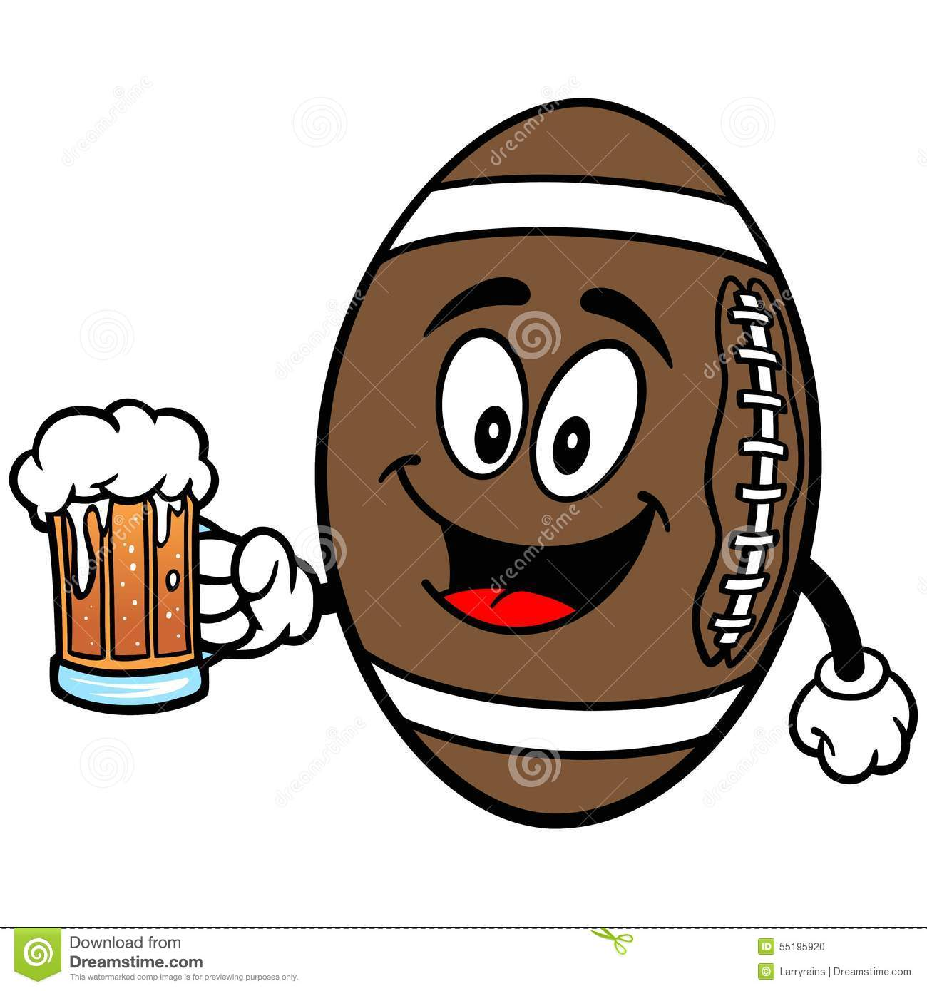 Football Mascot With Beer Stock Vector - Image: 55195920