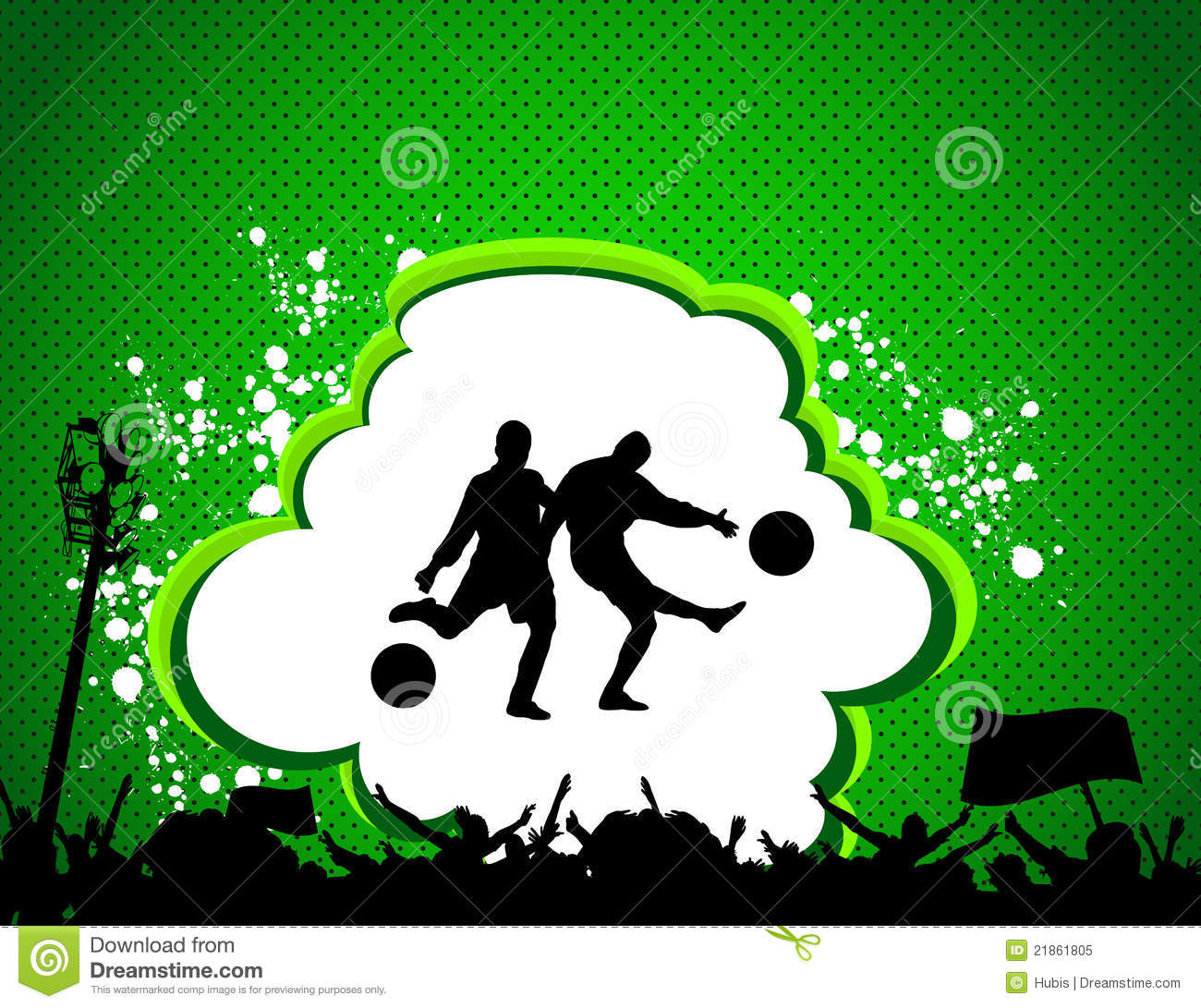 Football Match Poster Royalty Free Stock Photo - Image: 21861805