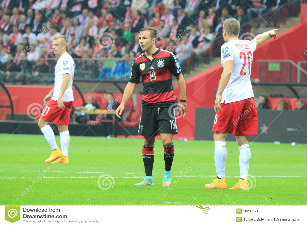 Football match editorial photo  Image of active, poland - 58285071
