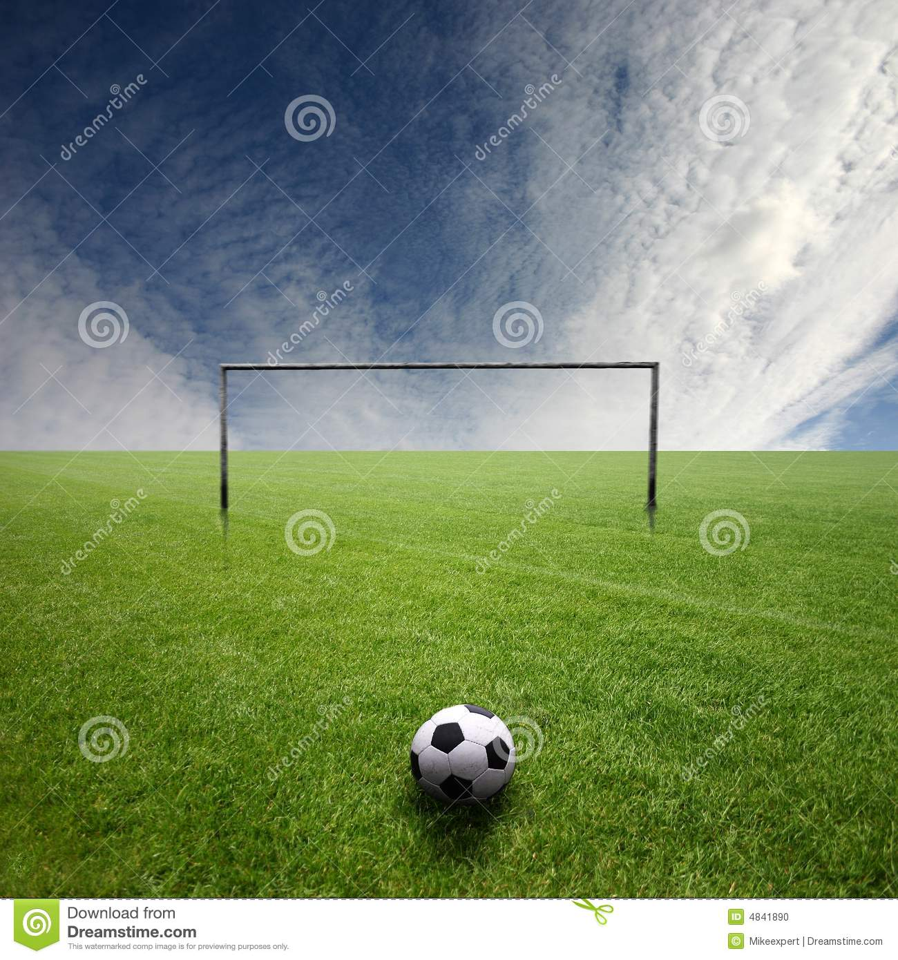 Football pitch with ball