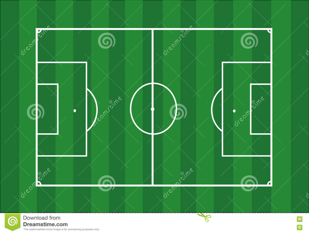 Soccer field football pitch stock vector illustration of lines soccer field football pitch ccuart Gallery