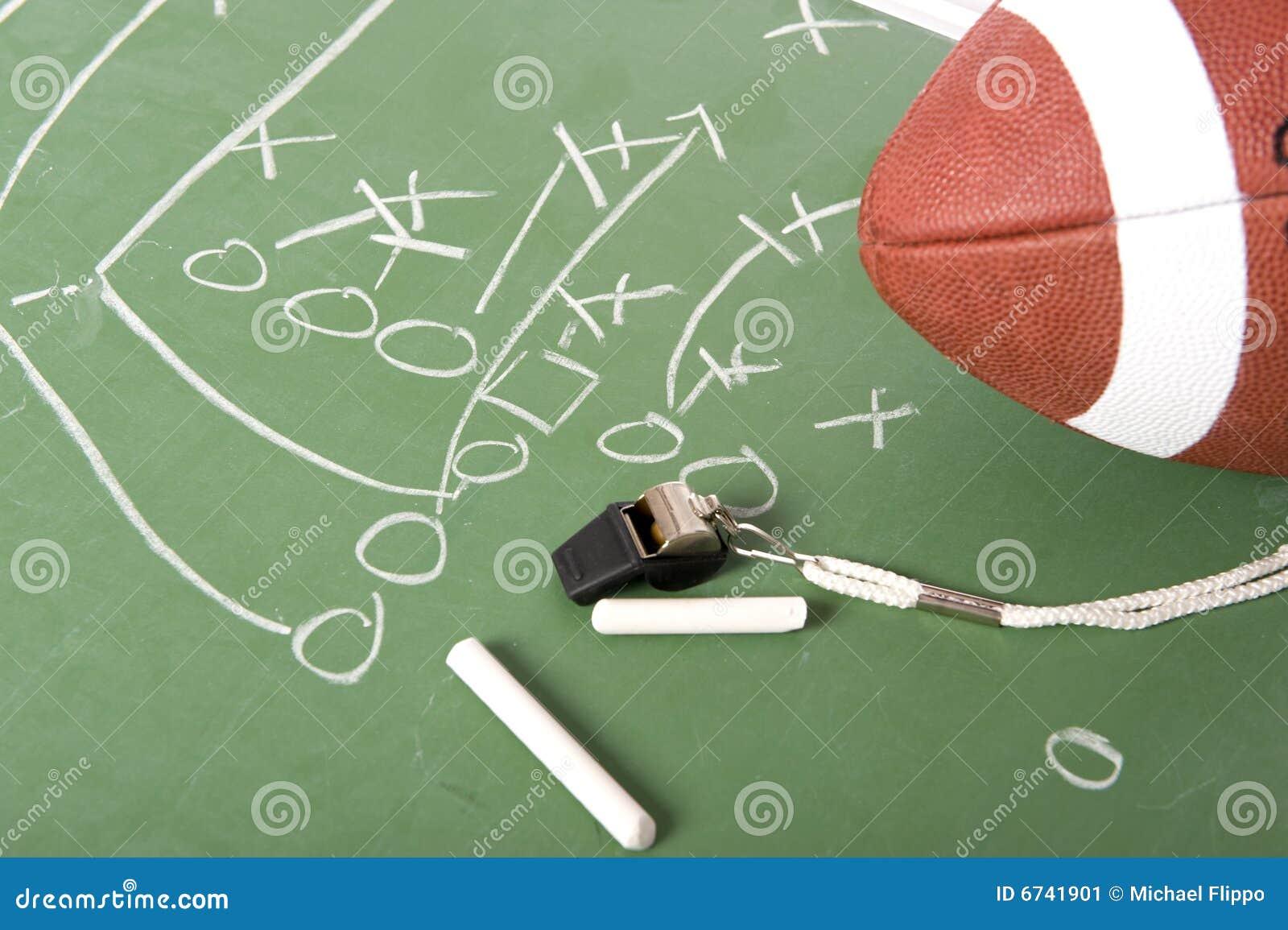 Football Play On Chalkboard Stock Image Image 6741901