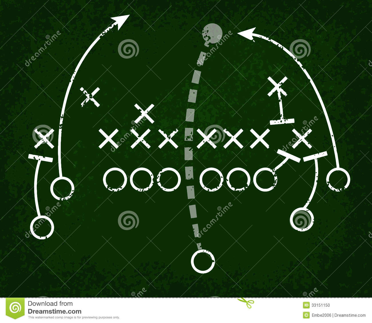 football play chalkboard stock photo image 33151150 : football play diagram - findchart.co