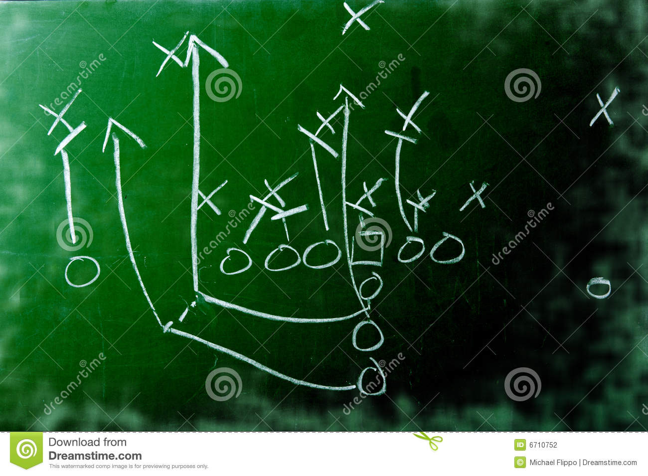 Football play diagram on chalkboard stock photo image of diagram football play diagram on chalkboard pooptronica Images