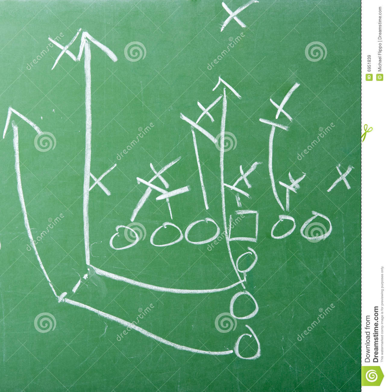 Football play diagram on chalkboard stock image image of football play diagram on chalkboard royalty free stock images pooptronica Images