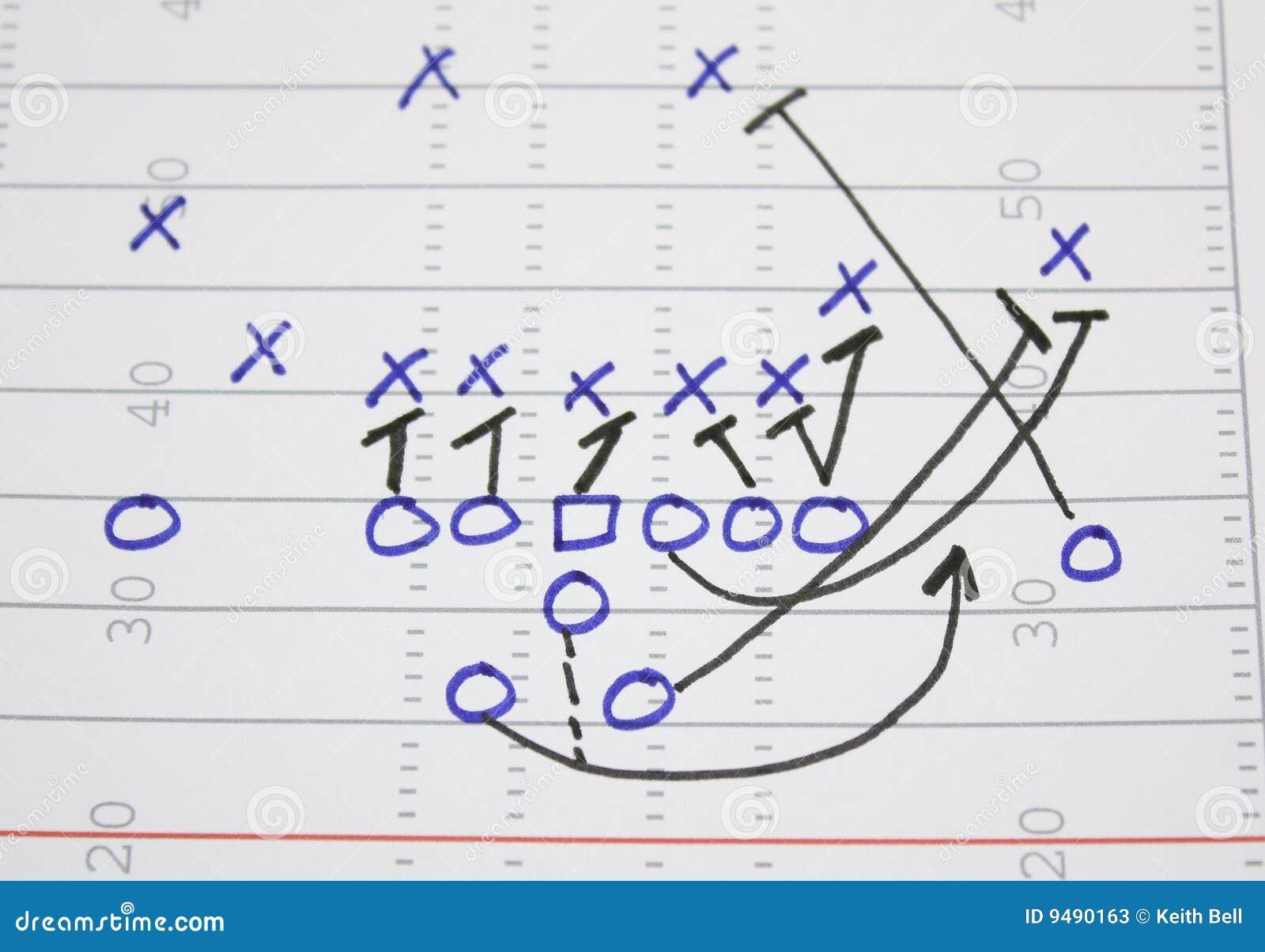 football play sweep diagram stock photos image 9490163