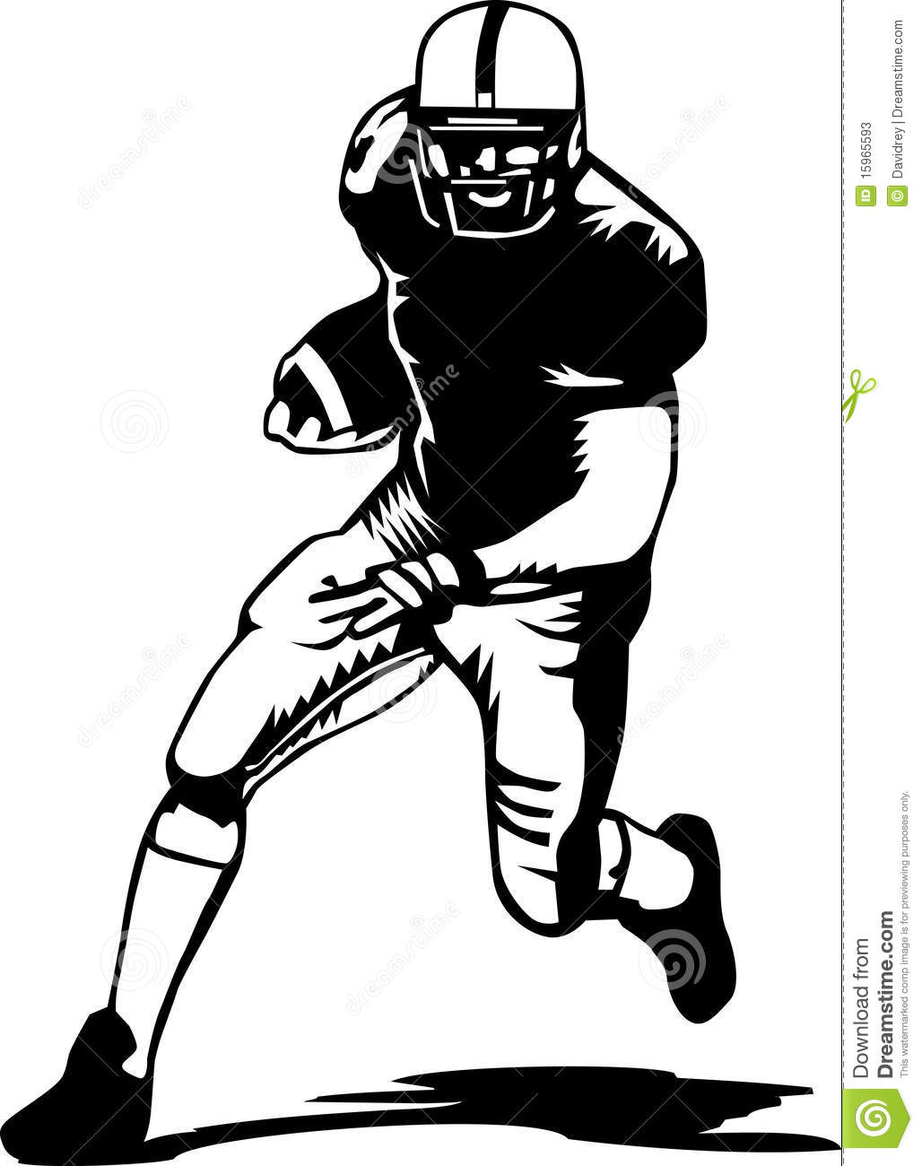 More similar stock images of ` Football player black and white `