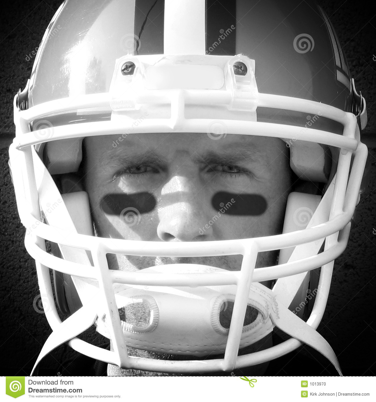 Football Player Close Up Stock Photo Image 1013970