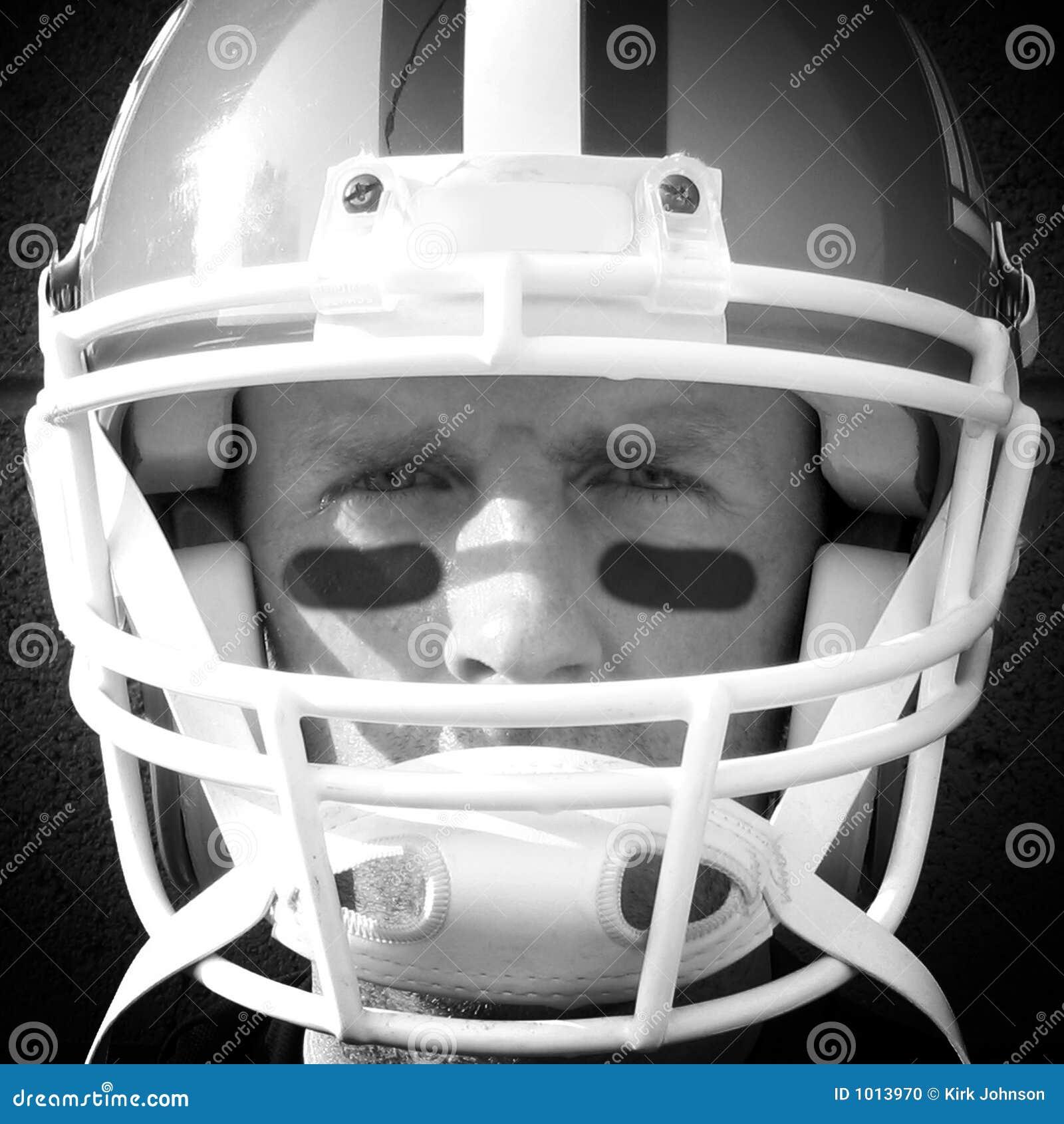 football player close up stock photo