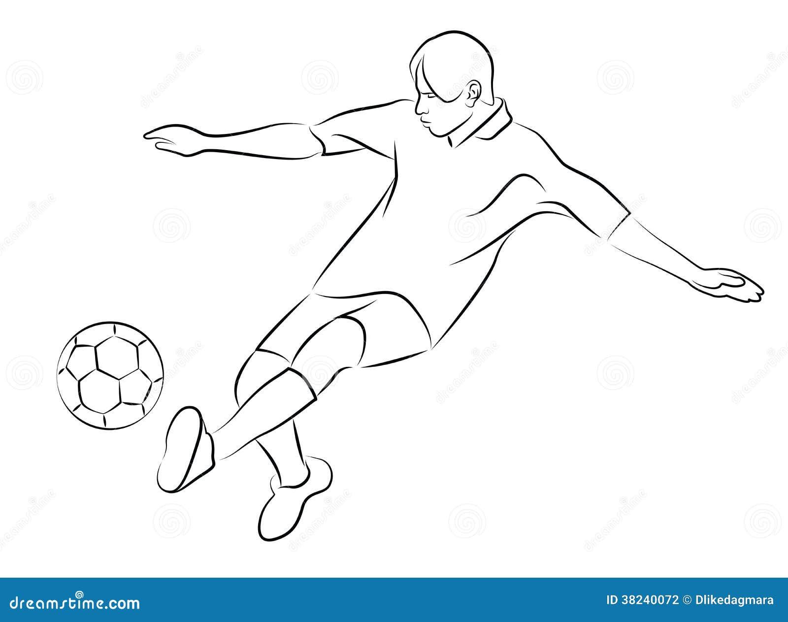 Football Player Stock Illustration. Illustration Of Sport - 38240072