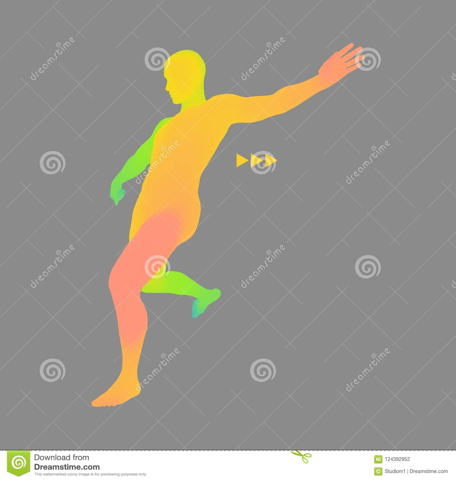 Football Player  Sports Concept  3D Model Of Man  Human Body  Sport