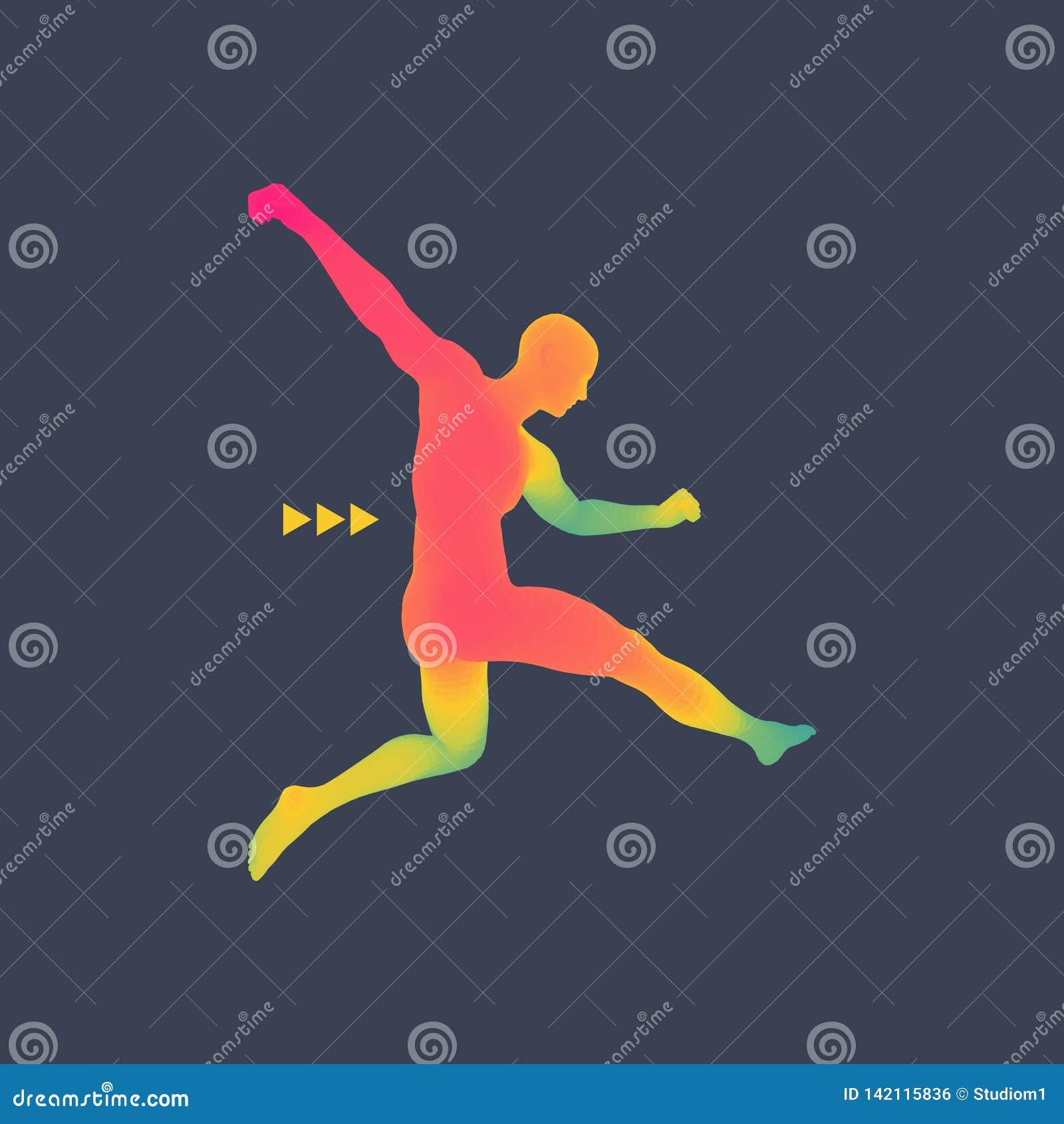 Football Player  Sports Concept  3D Model Of Man  Sport