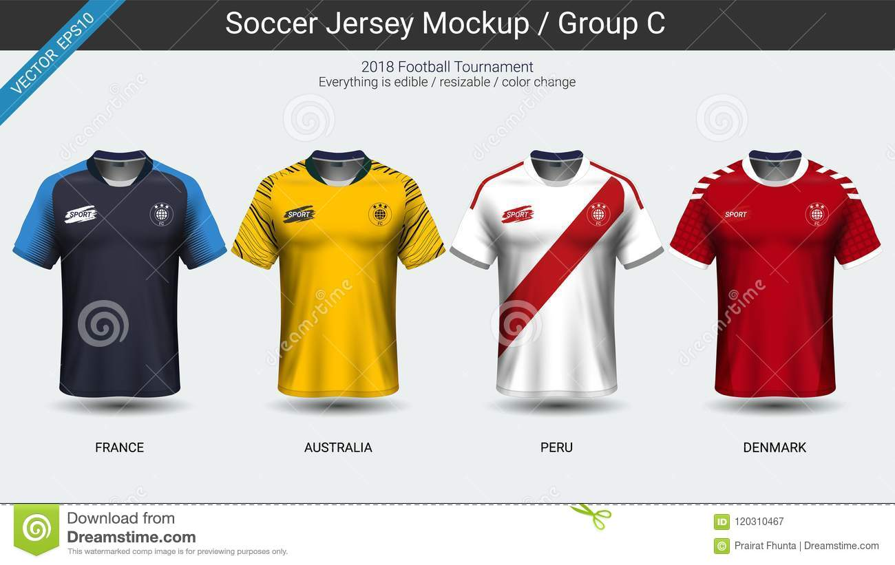 779271a486c4a Football players uniform, National team soccer jersey 2018 group C, For  your presentation the match results of world championship cup in Russian,  ...