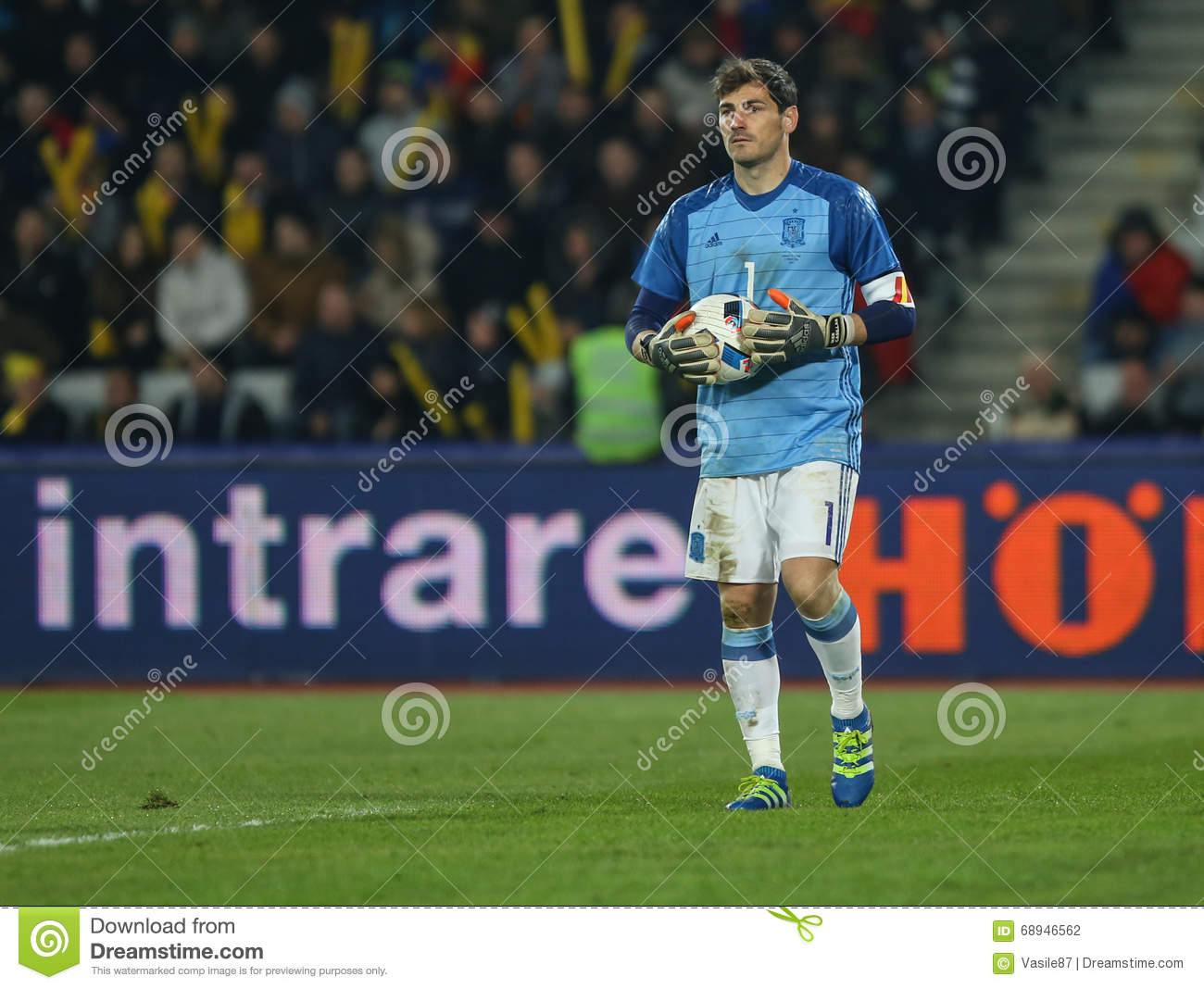 9d2e113aa5a Spain s goalkeeper Iker Casillas in action during a friendly game Romania  vs. Spain