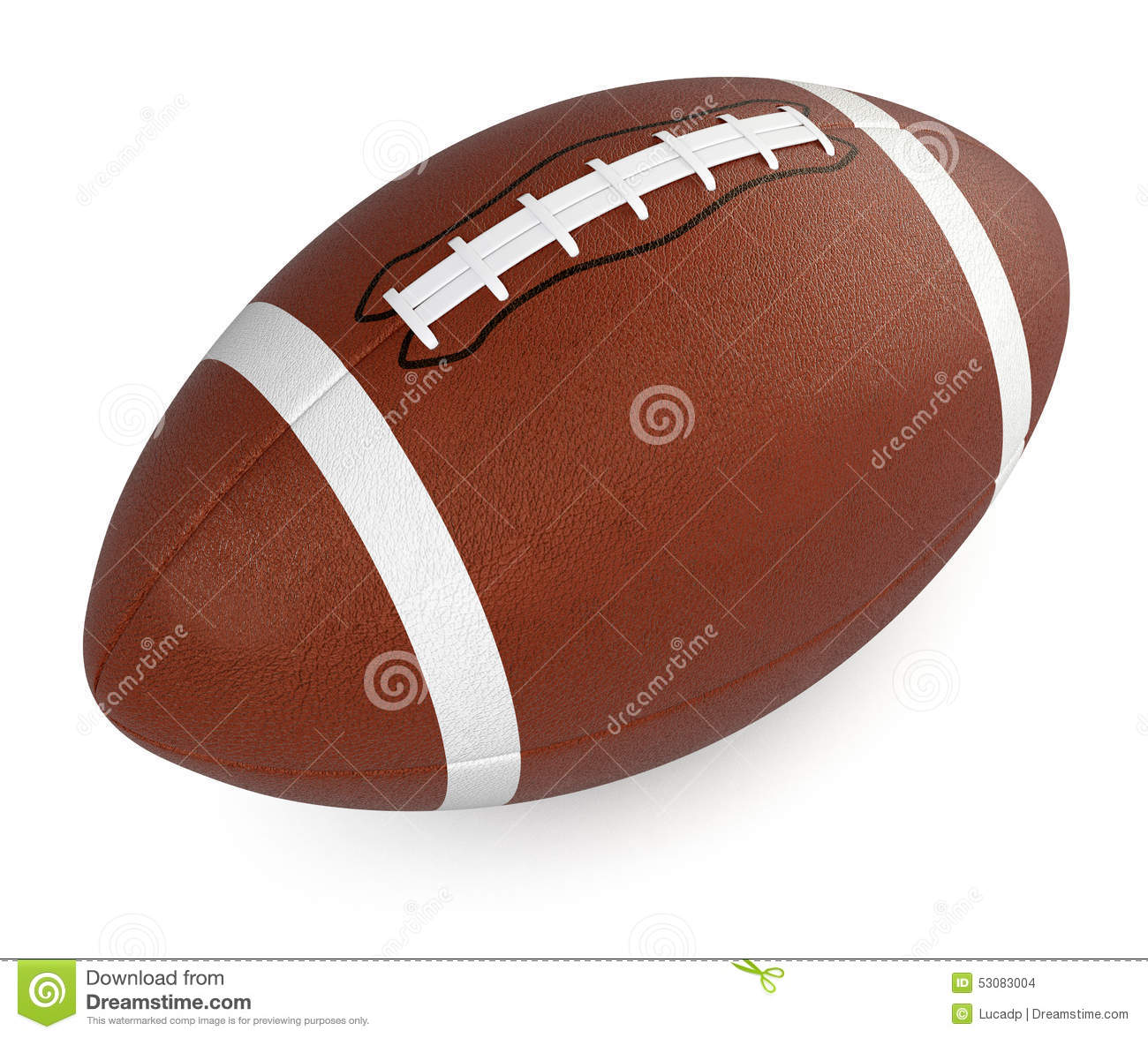 Football And Rugby Ball Stock Illustration. Illustration