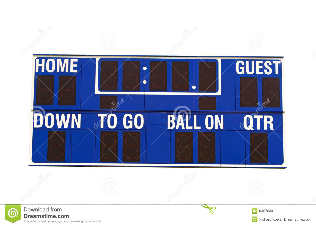 how to make a football scoreboard