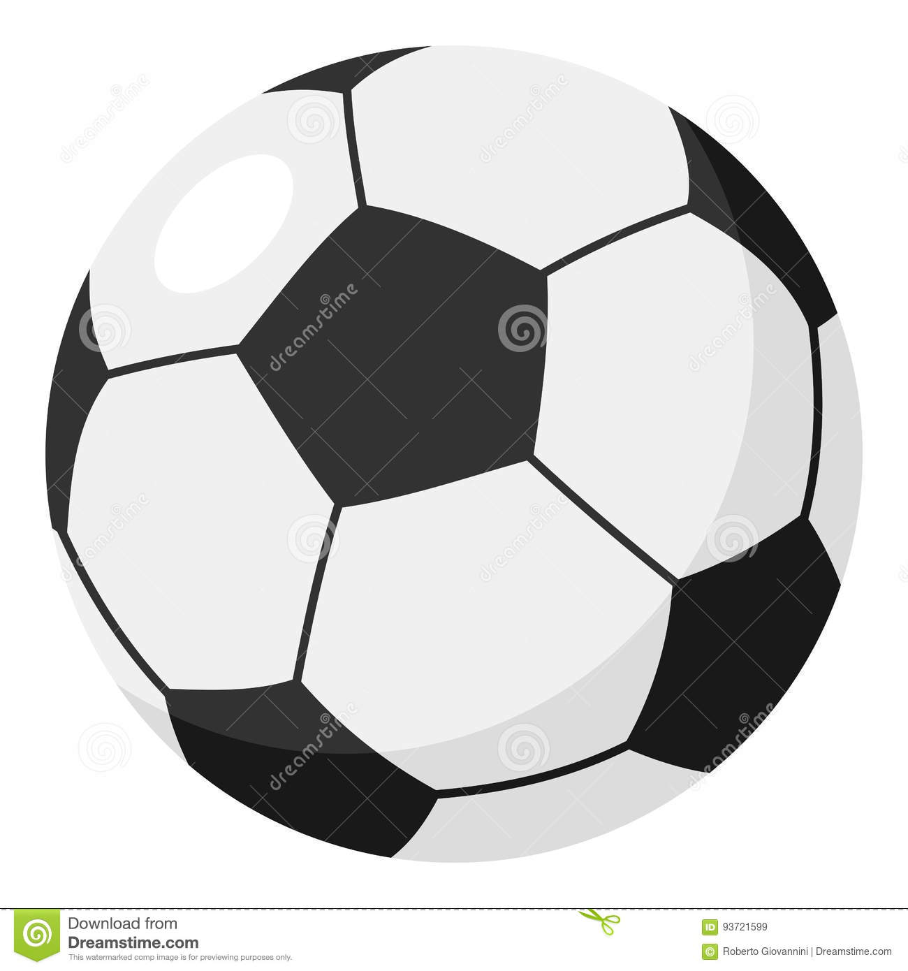 Football or Soccer Ball Flat Icon on White