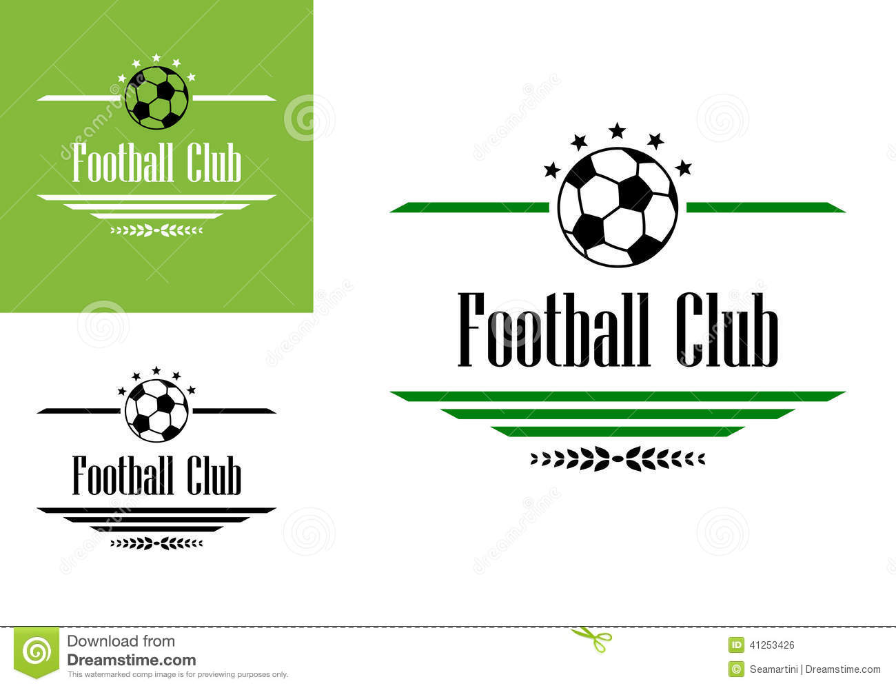 soccer club football symbol sports ball dividers stars voetbal