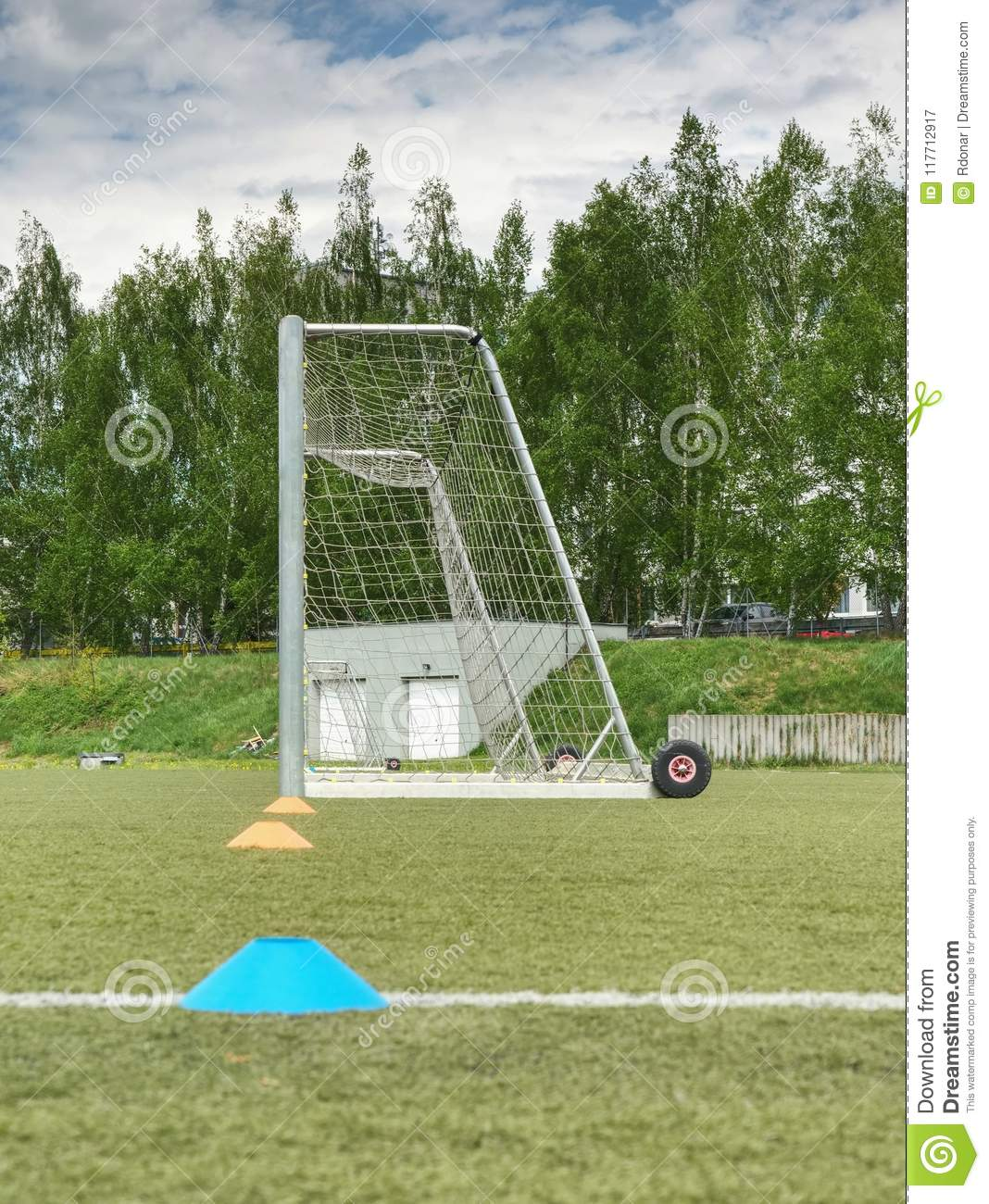 d0b1c3539 Soccer Field Behind Goal Net Stock Images - Download 249 Royalty Free Photos
