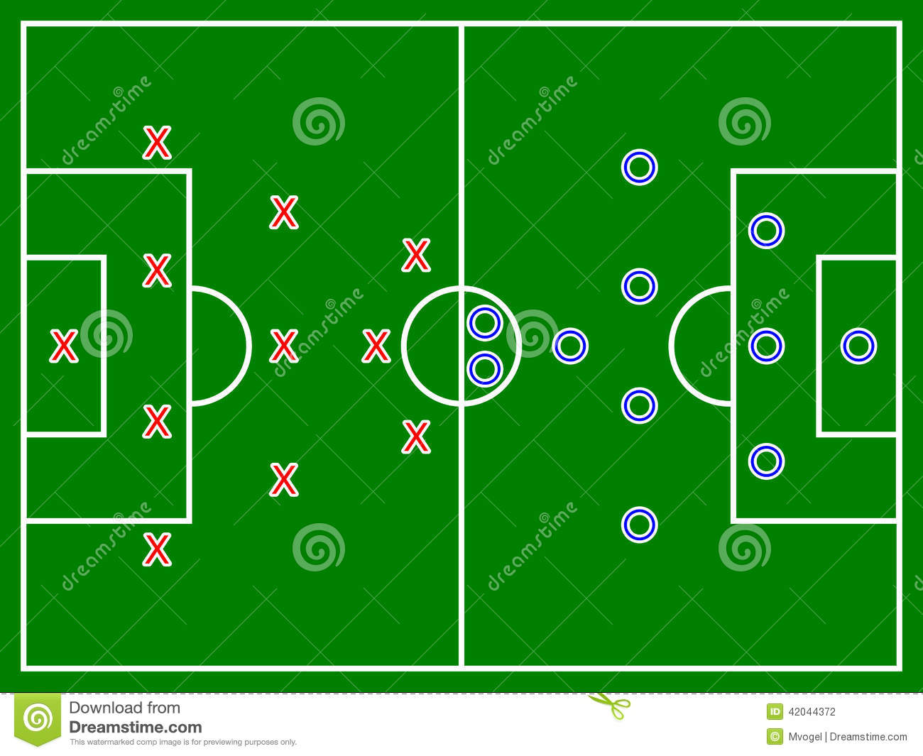 Football Soccer Field Diagram Stock Illustration Illustration Of