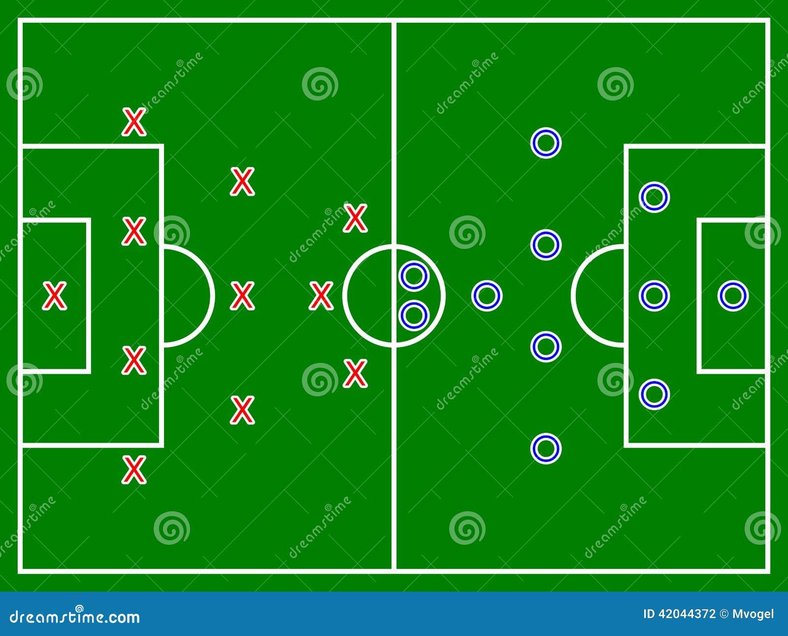 Football  Soccer  Field Diagram Stock Illustration