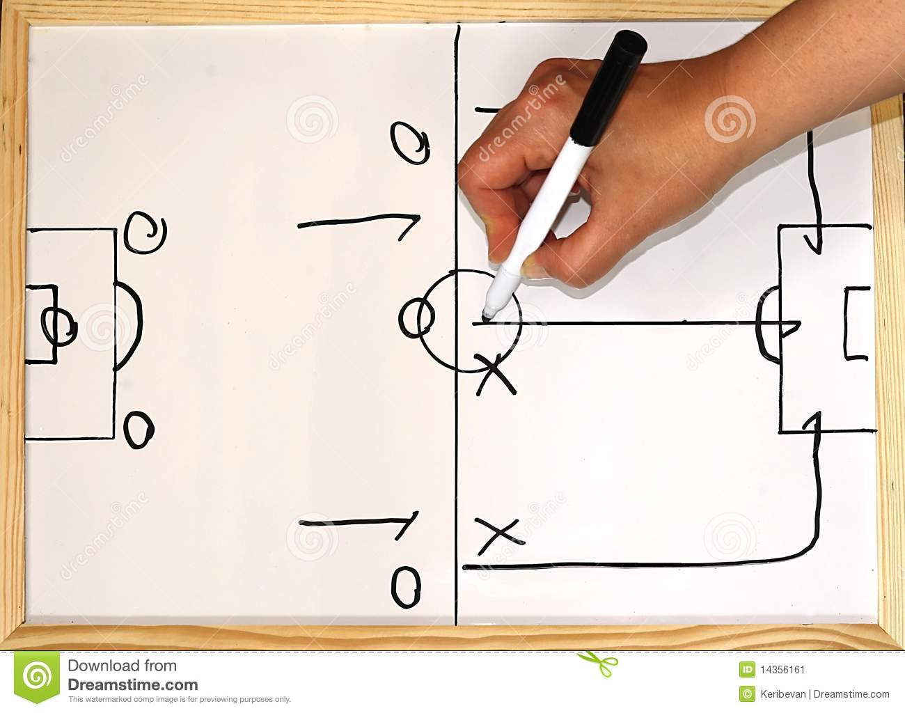 Football Play Diagram Stock Images - Image: 18591994