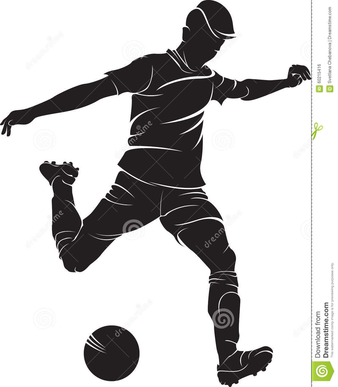 Football soccer player silhouette