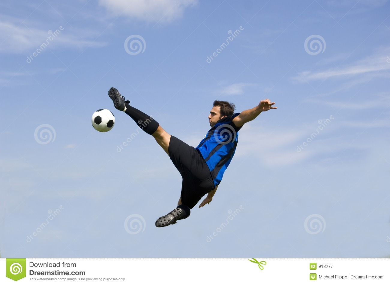 Famous soccer players in action making a goal