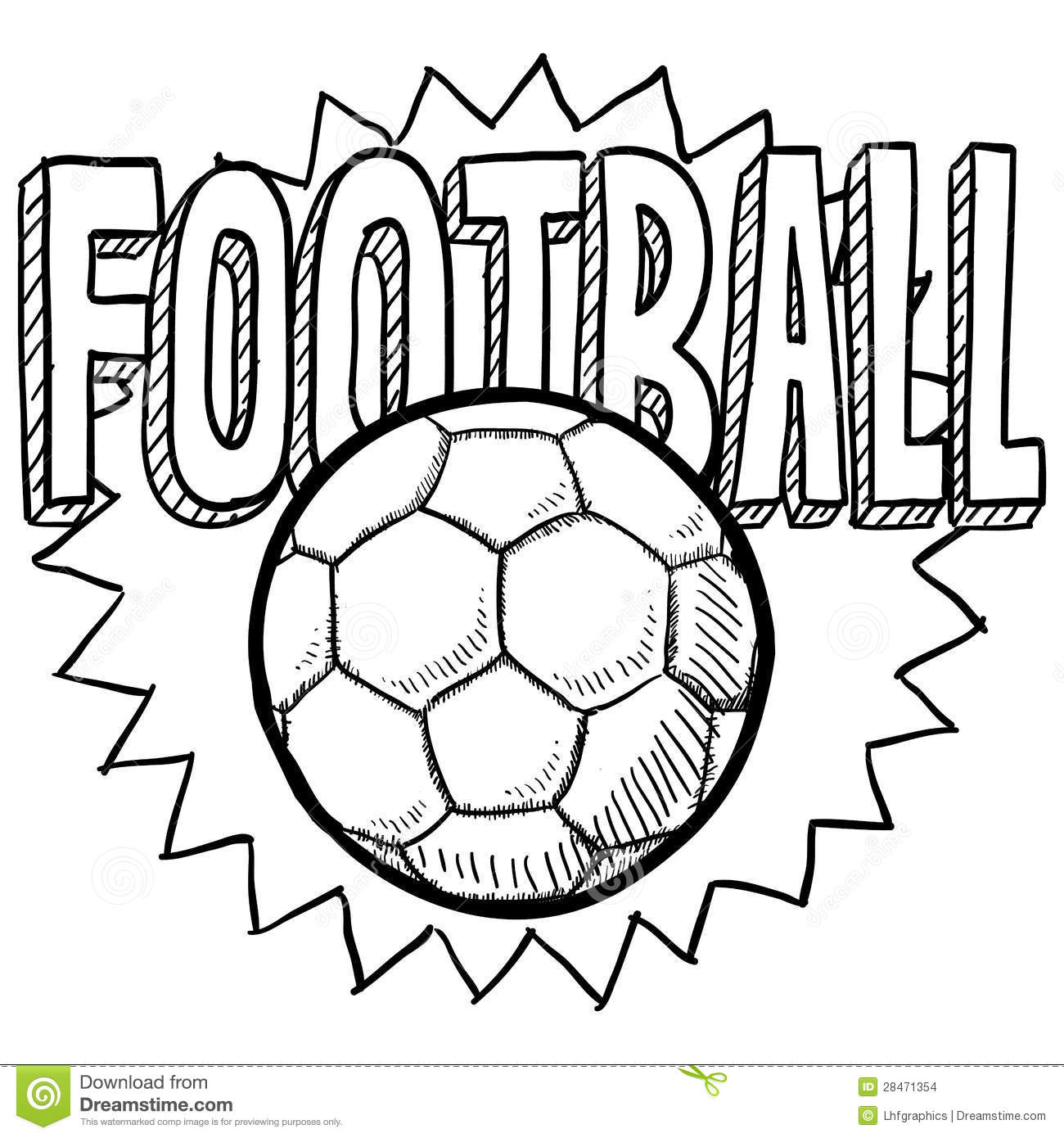 Football Soccer Sketch...
