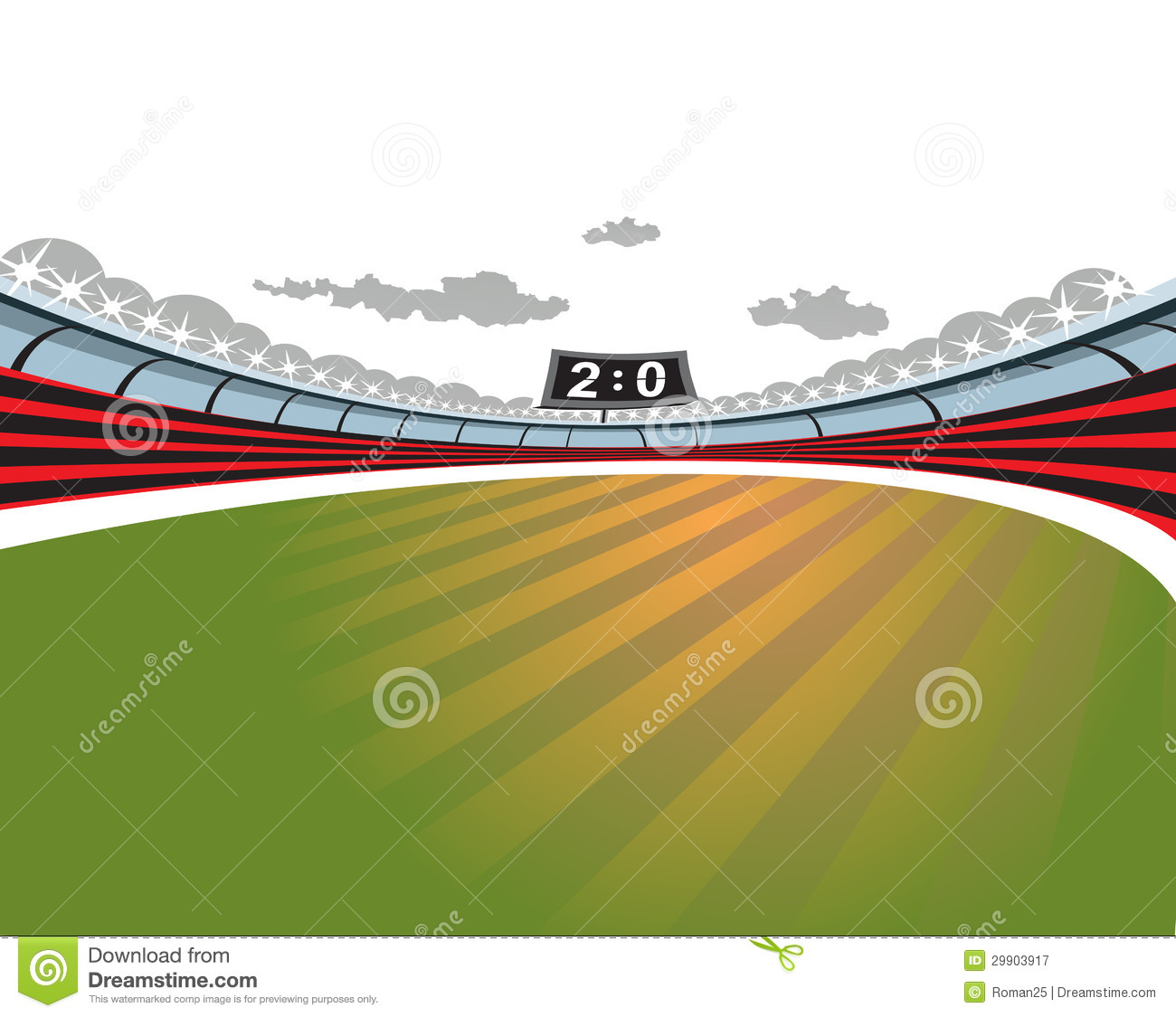 Football Soccer Stadium. Royalty Free Stock Photography - Image ...