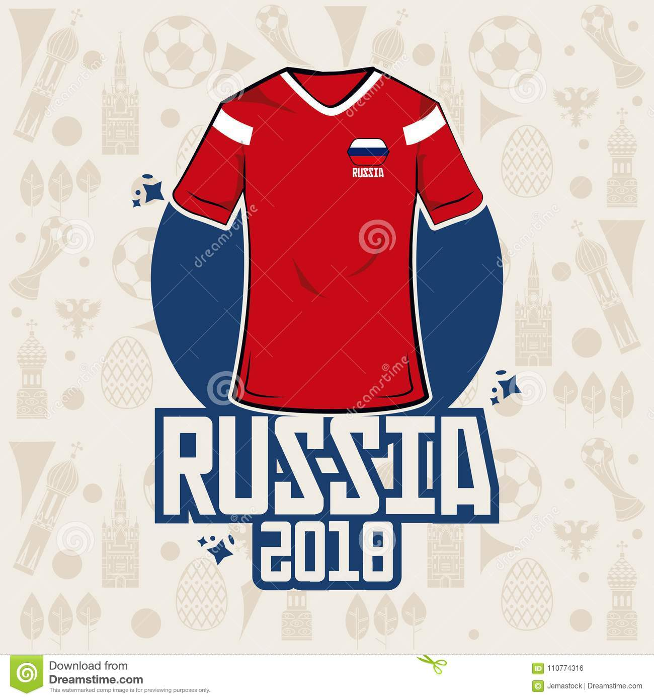 Football sport wear russia 2018 vector illustration graphic design. More  similar stock illustrations 4bb008ac3