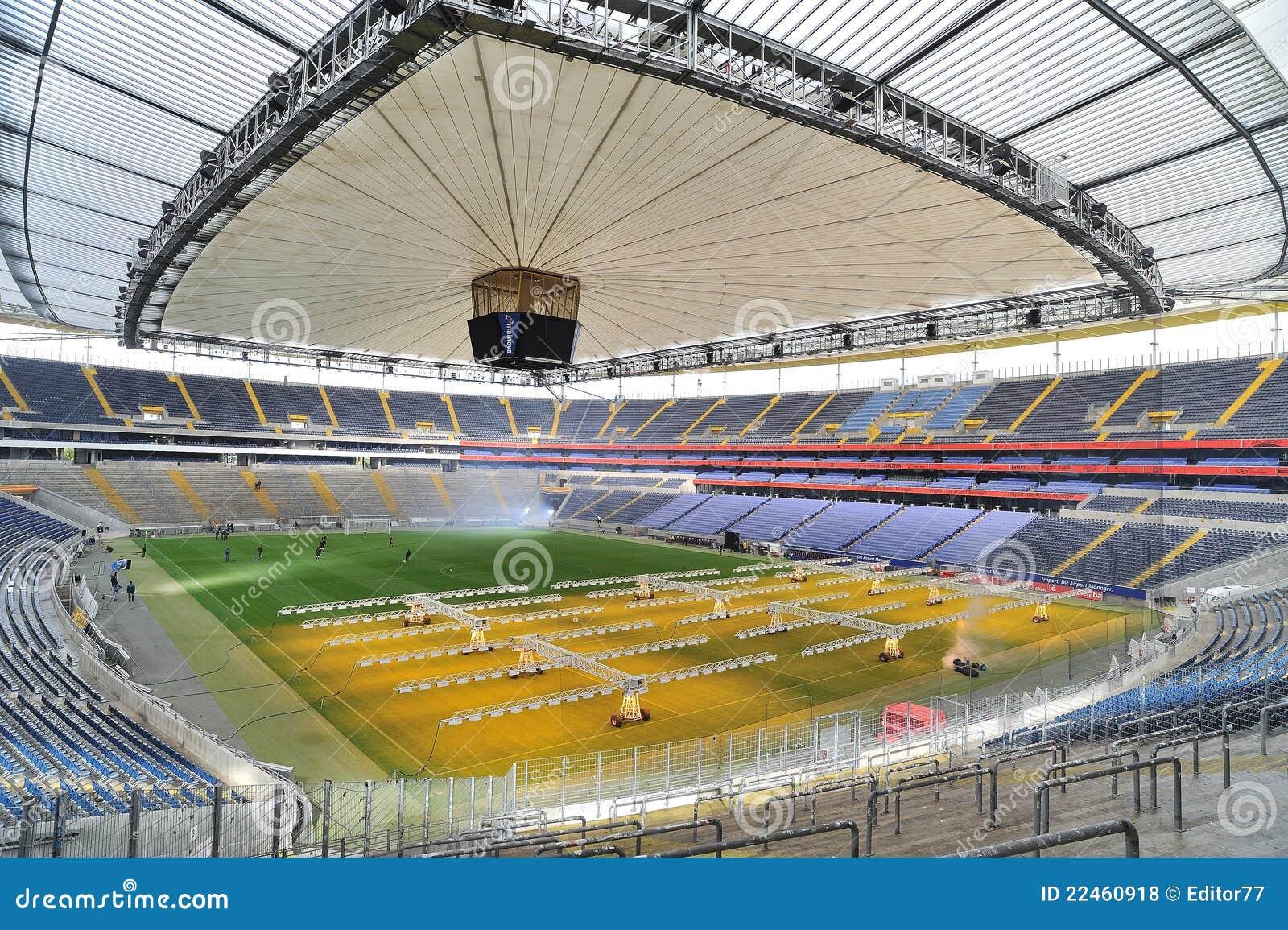 Football stadium arena in frankfurt editorial stock photo for Game design frankfurt