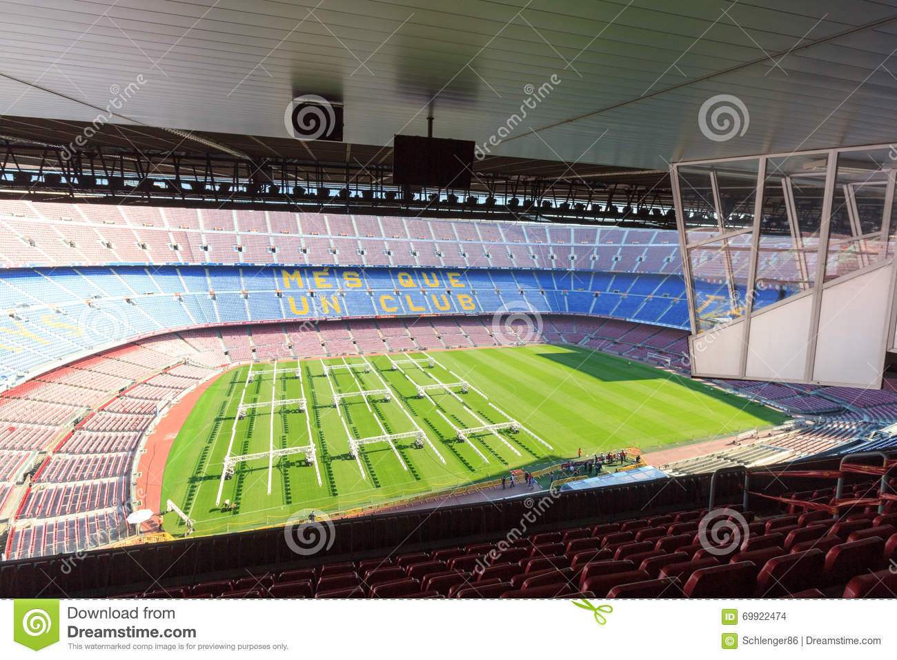 Camp Nou Stadium In Barcelona Panorama Editorial Image