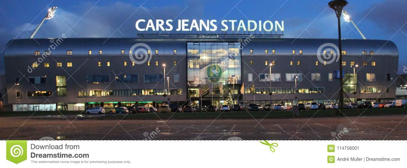 Football stadium Cars Jeans in the Hague, home of ADO Den Haag which plays in the Dutch Eredivisie with lights on