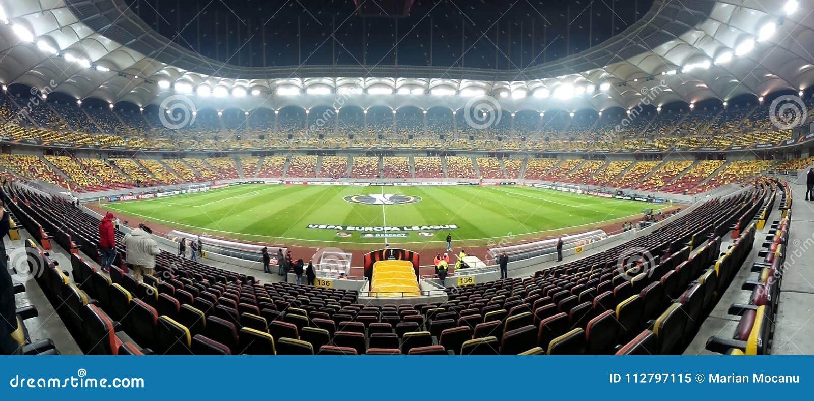 Football stadium, ready for Champions League