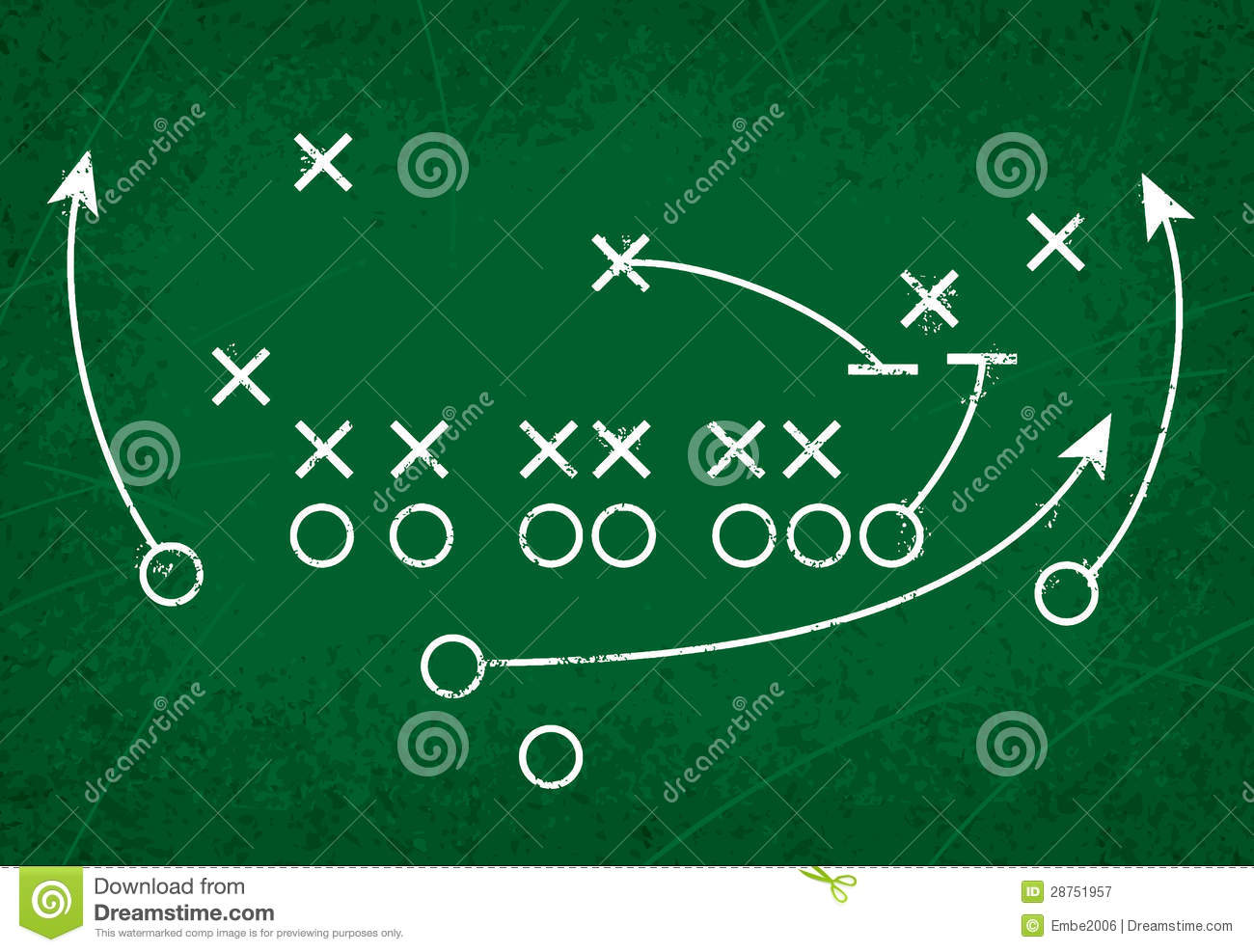 Football Strategy Play Stock Vector Illustration Of Instruct 28751957