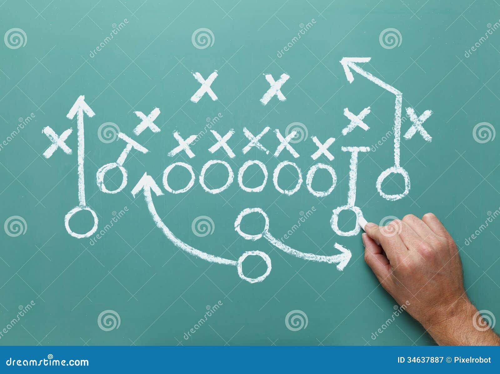 football strategy stock image  image of grunge  explaining
