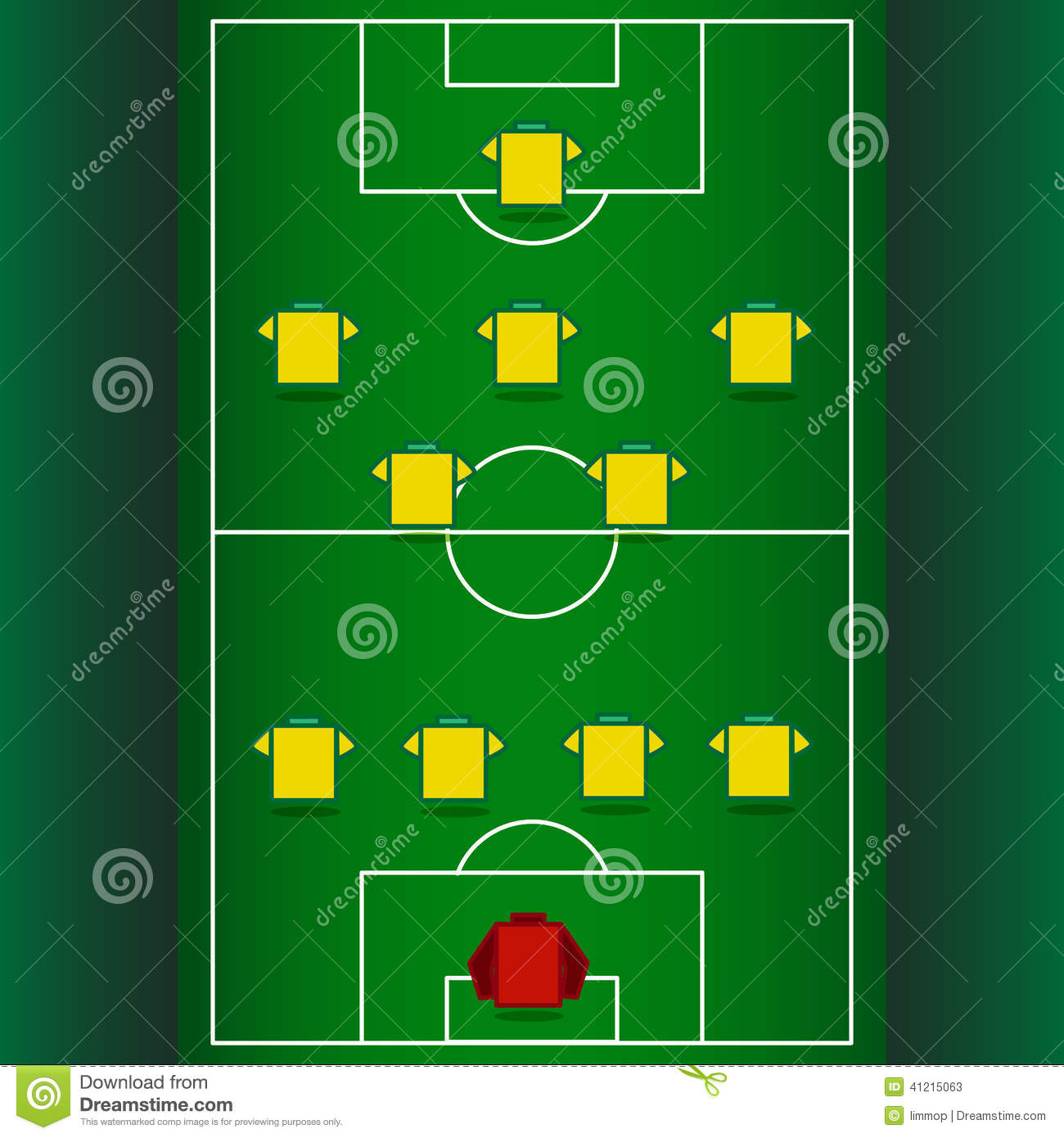 Football Tactics And Strategy Stock Vector Illustration Of
