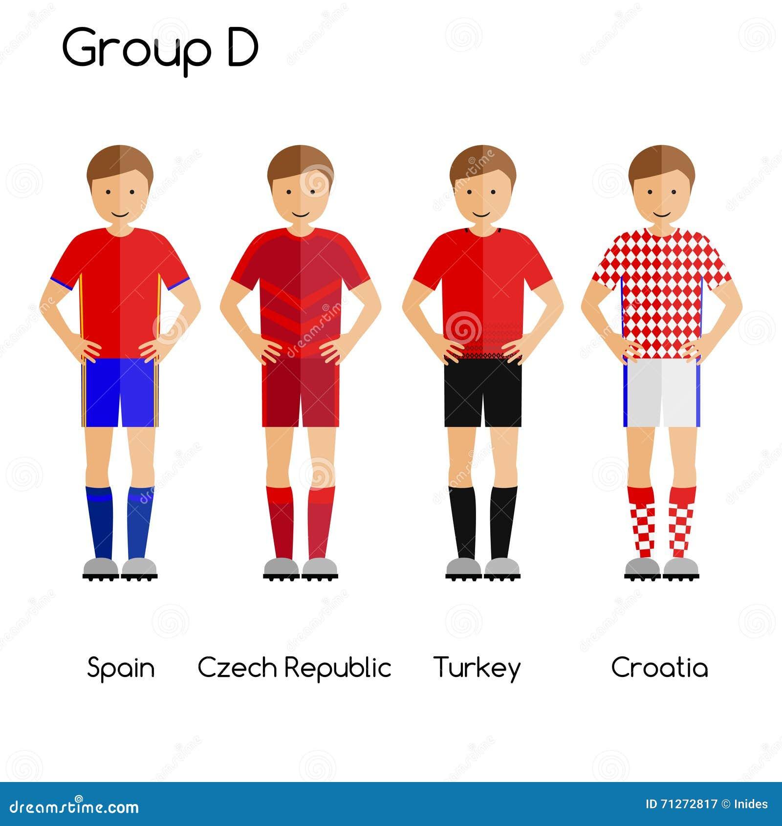 Football Team Players. Group D - Spain c4ab36e79