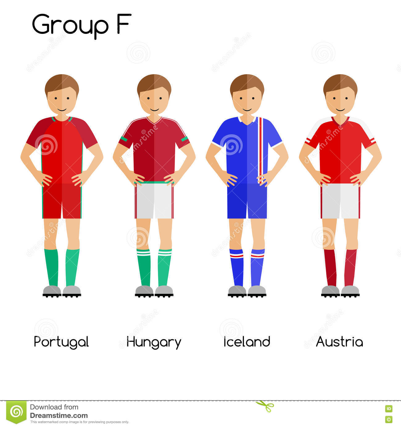premium selection a3646 0e95f Football Team Players. Group F - Portugal, Hungary, Iceland ...