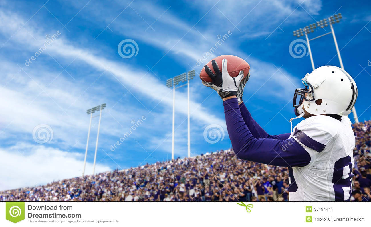 Download Football Touchdown Catch stock image. Image of action - 35194441