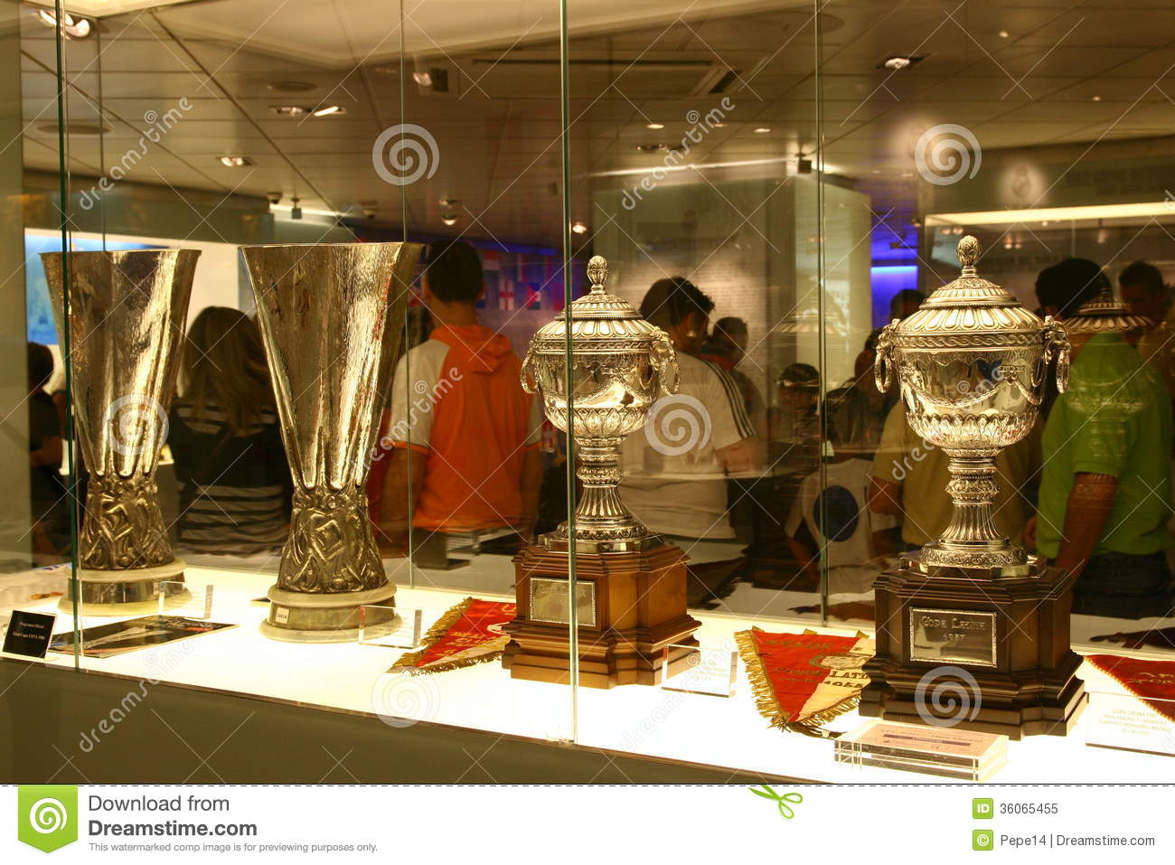 Football trophies in Real Madrid exhibition