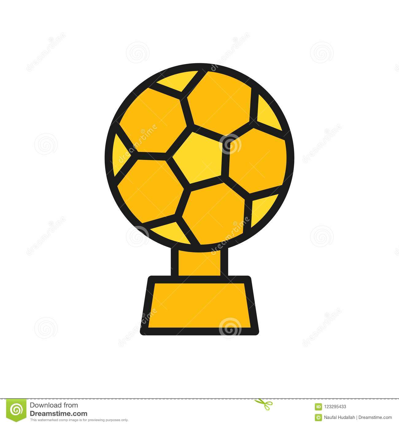 Football Trophy Cup Icon. Simple Illustration Outline ...