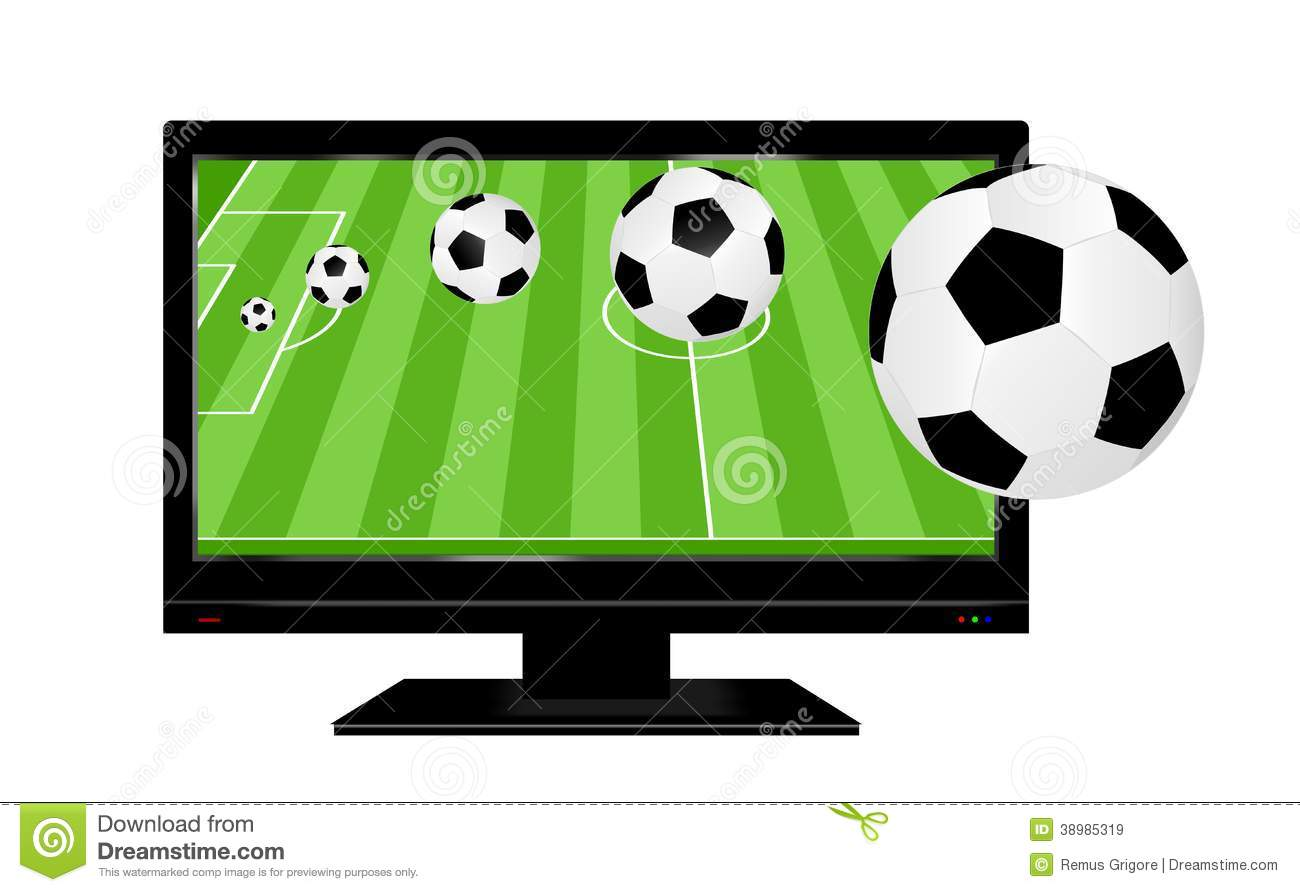 Football On TV -cdr Format Stock Vector - Image: 38985319